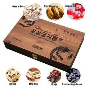 Kiện Não Hoàng Hoàn SAMSUNG Hàn Quốc hộp gỗ 60 viên * 3.75g GUM JEE HWAN