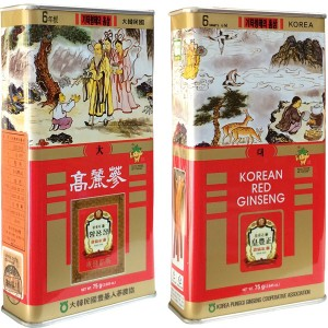 Hồng Sâm Nguyên Củ Khô Punggi Hàn Quốc 75g Củ To (3-5 Củ)