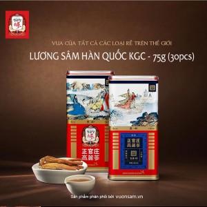 Hồng Sâm Củ Khô Hộp Thiếc KGC 75g 30PCS Chính Phủ Cheong Kwan Jang Hàn Quốc