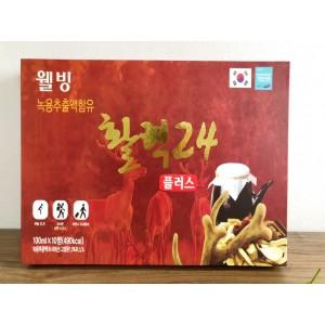 Nước Hồng Sâm Nhung Hươu Well Biotech 100ml x 10 Chai