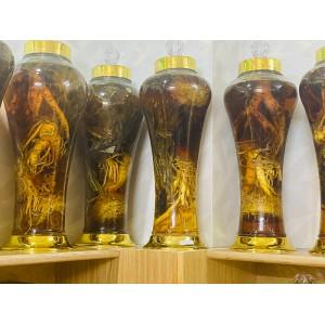 Bình Rượu Hoa Tuyết Liên Sơn Và Sâm Hàn Quốc 4,5L