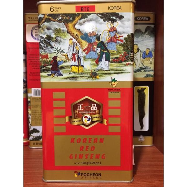 Hồng Sâm Củ Khô Hộp Thiếc Pocheon Hộp 150gr