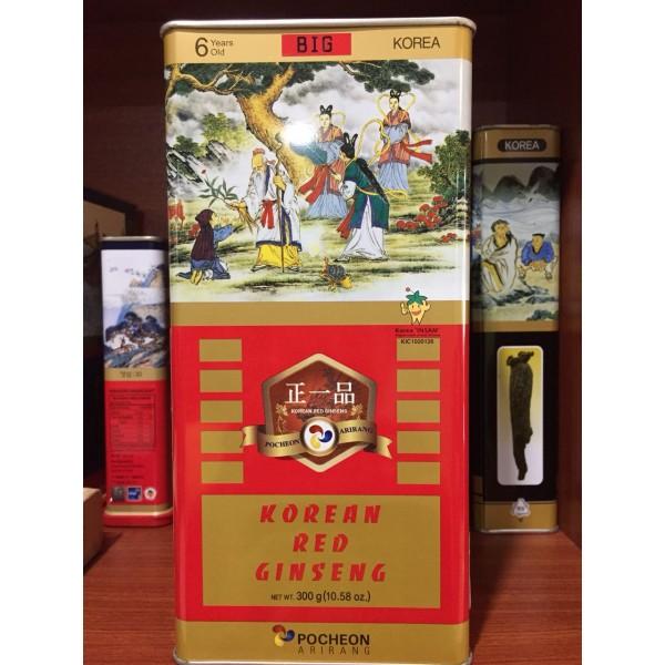 Hồng Sâm Củ Khô Hộp Thiếc Pocheon Hộp 300gr