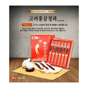 Hồng Sâm Củ Hàn Quốc Tẩm Mật Ong Loại 300g x 6 Củ