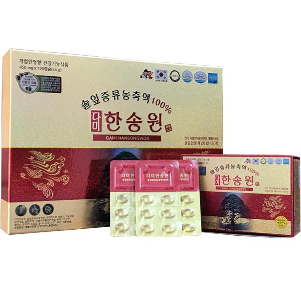 Tinh Dầu Thông Đỏ Hàn Quốc Cao Cấp Dami Hansongwon 120 Viên