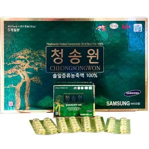 Viên Tinh Dầu Thông Đỏ Hàn Quốc Cheong Song Won 180 Viên Hộp Xanh