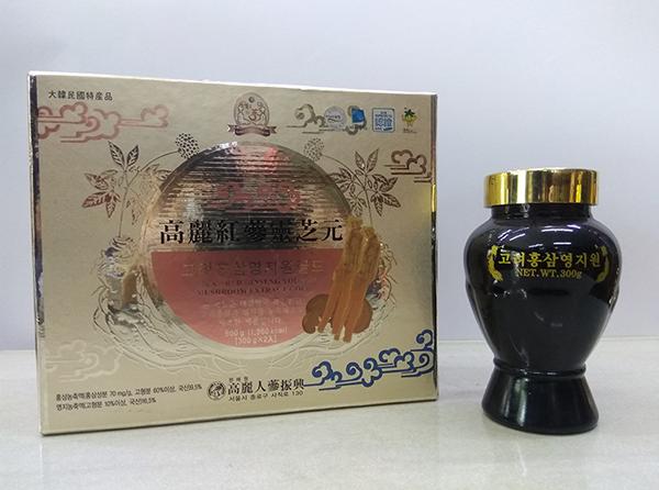 Cao Hồng Sâm Linh Chi Hàn Quốc loại 600gr