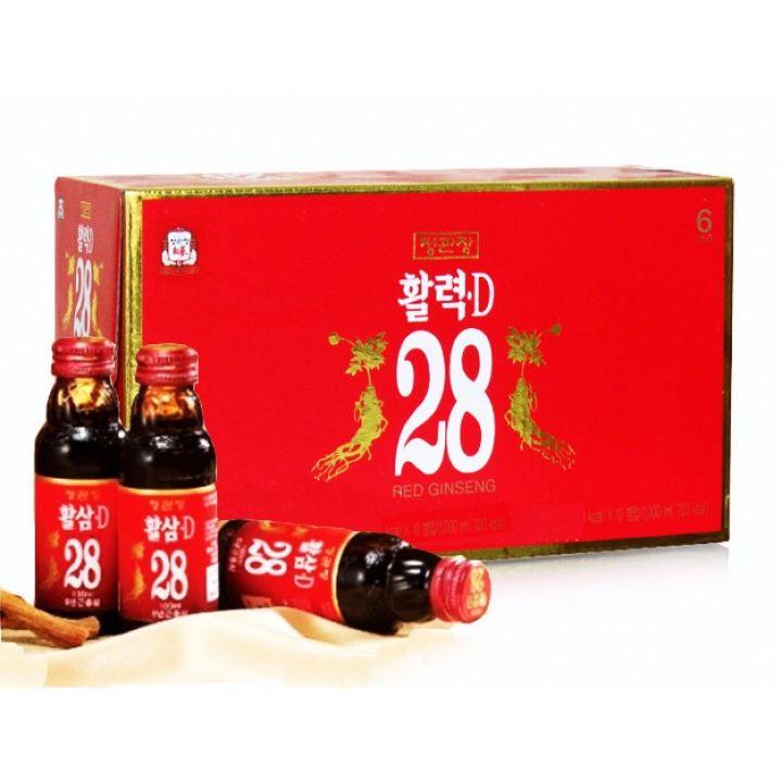 Nước Tăng Lực Hồng Sâm Hàn Quốc 28D 100ml